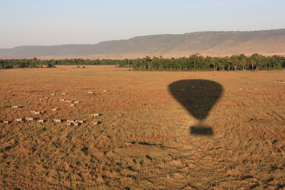 Hot Air Balloon, Shadow, Travel, Flying, Outdoor, Float
