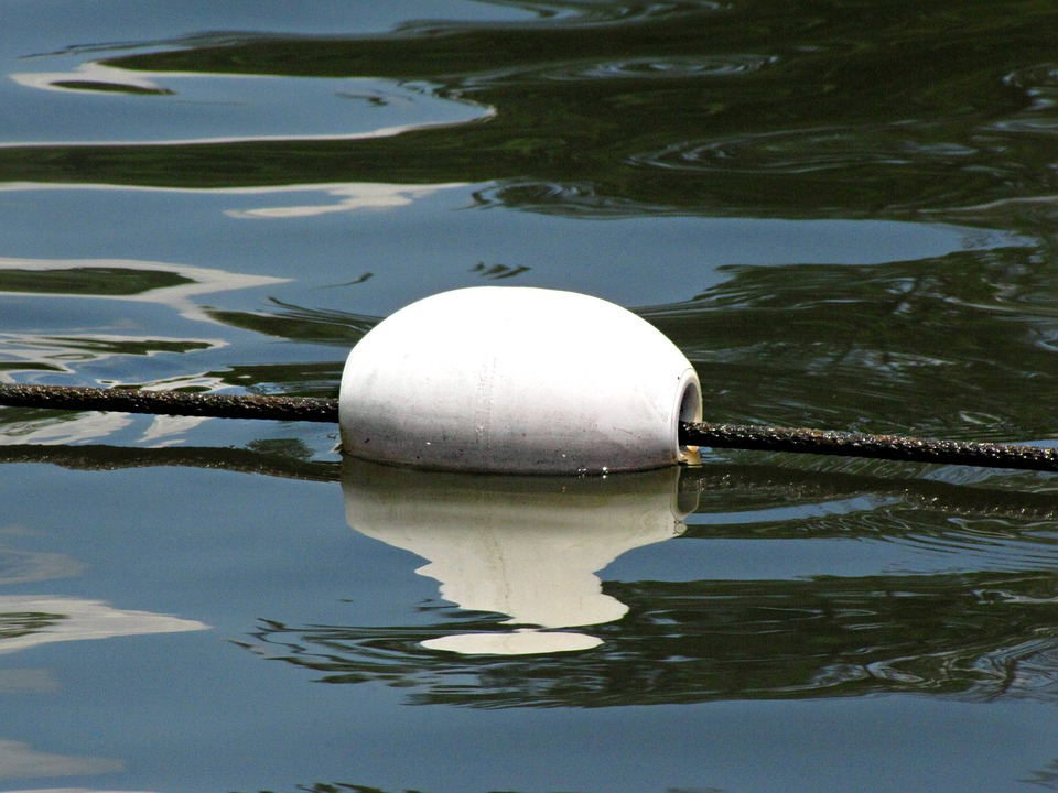 Buoy, Surface Marker Buoy, Floater, White, Marker