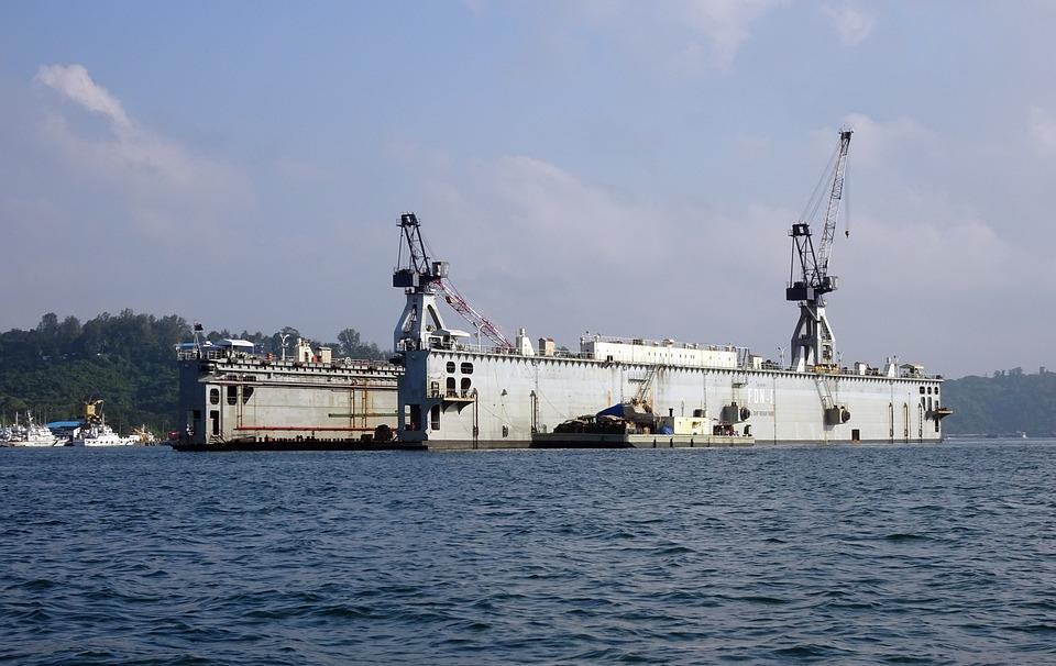Floating Dock, Repair, Vessel, Ship, Workshop, Shipyard
