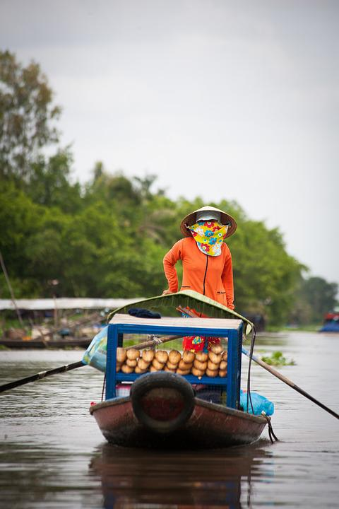 Boat, Floating Market, Subsistence