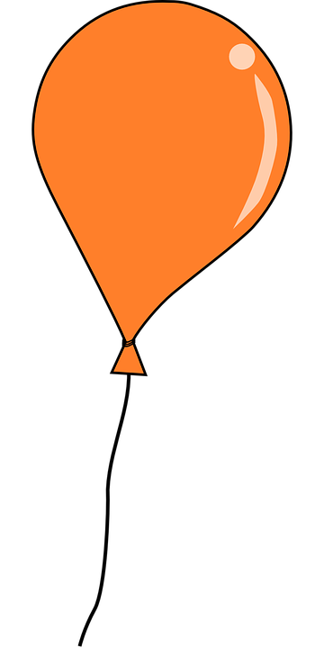 Balloon, Party, Orange, Floating
