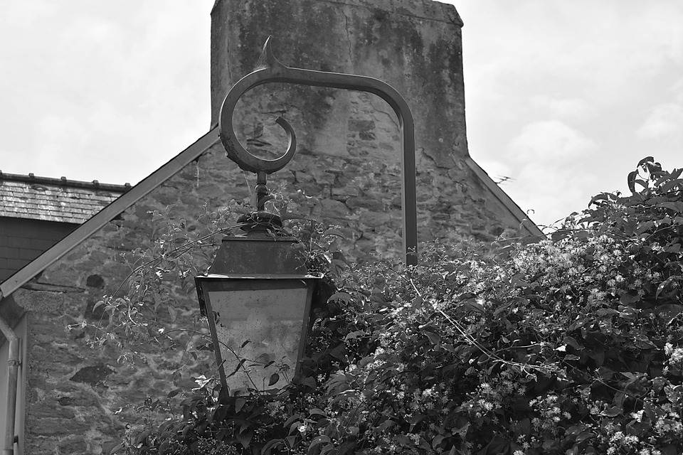 Lamp, Light, Floor Lamp, Village, France, Iron, Forged