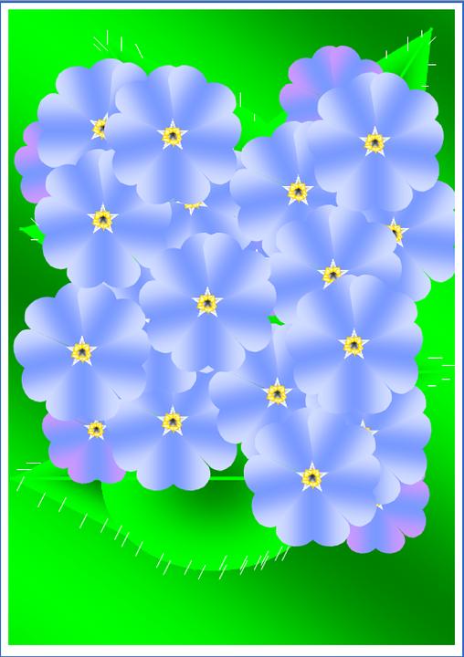 Flowers, Blue, Pattern, Floral