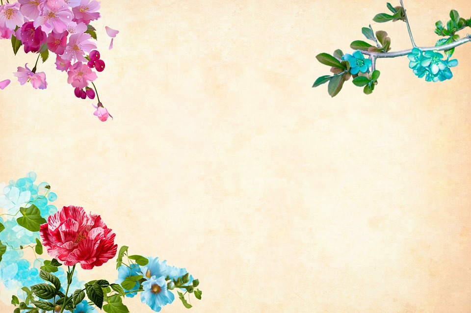 Free Photo Floral Border Flower Background Watercolor