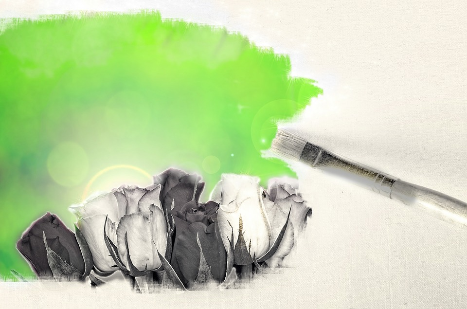 Floral, Painting, Brush, Color, Drawing, Botanical
