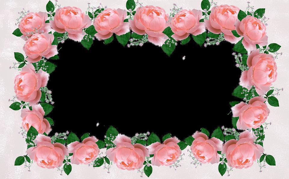 Free photo Floral Decorative Border Roses Frame - Max Pixel