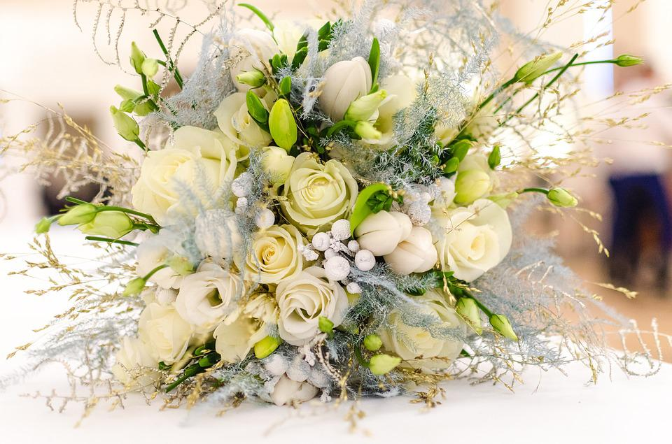 Free photo Floral Flower White Wedding Bouquet Beautiful - Max Pixel
