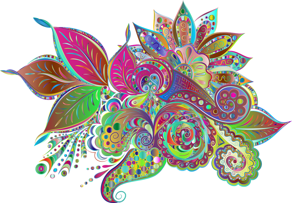 Floral, Flowers, Ornamental, Decorative, Colorful