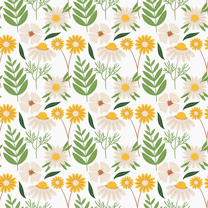 Flower, White, Pattern, Floral, Seamless, Decor