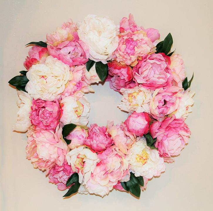 Floral Wreath, Decorative, Flowers, Wreath, Gebluehmt