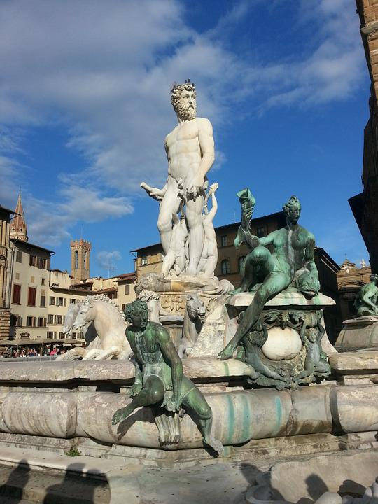 Florence, Statue, Sky, Blue, City, Holidays