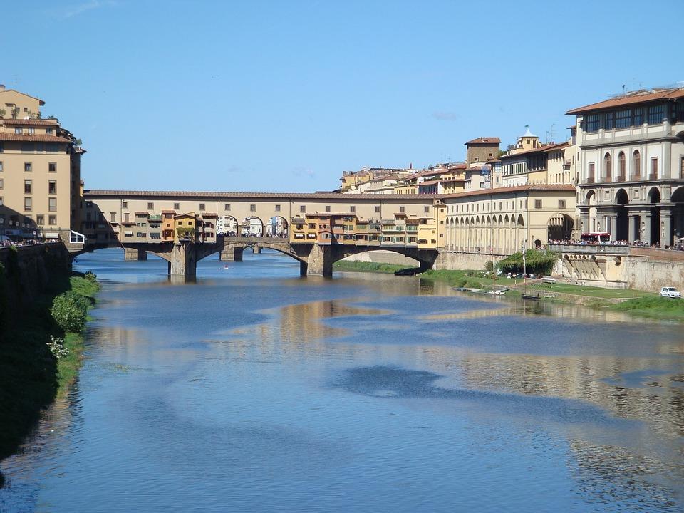 Italy, Florence, Ponte Vecchio, Bridge, Tuscany