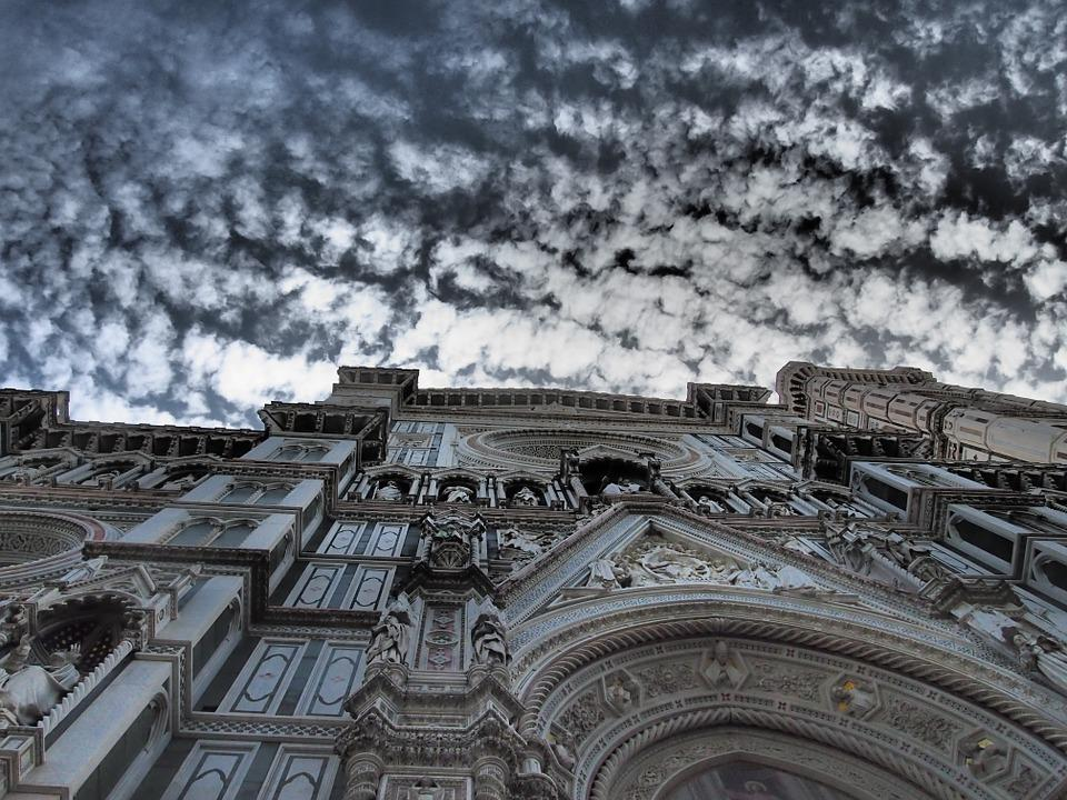 Florence, Dom, Cathedral, Sky, Church, Italy