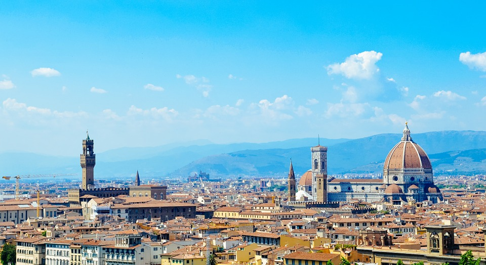Panorama, Florence, Italy, City, Cathedral