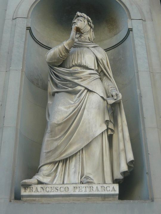 Florence, Italy, Italian, Statue, Petrarca