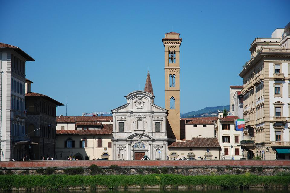 Florence, Italy, Italia, Monuments, Sculptures