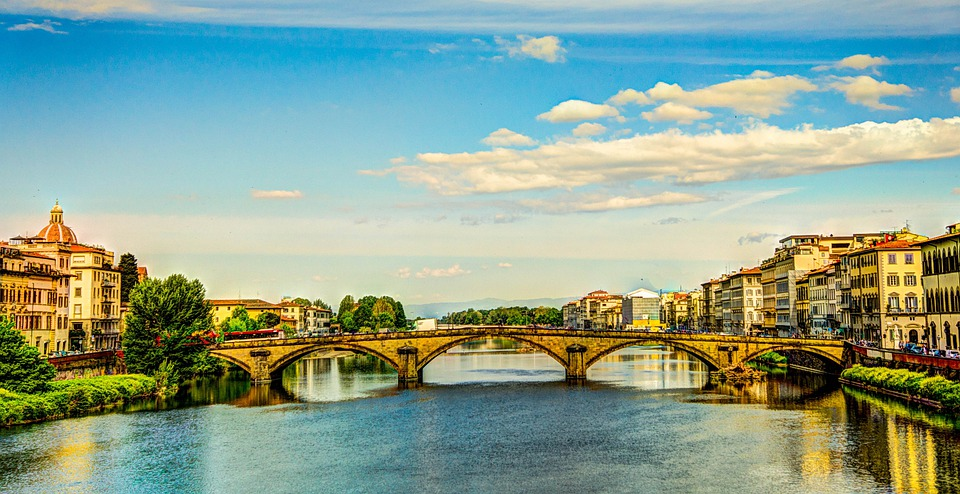 Ponte Vecchio, Florence, Italy, Bridge, Urban