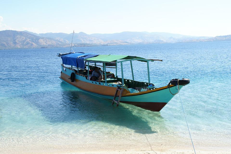 Asia, Indonesia, Flores, Sea, Water, Boat, Holiday
