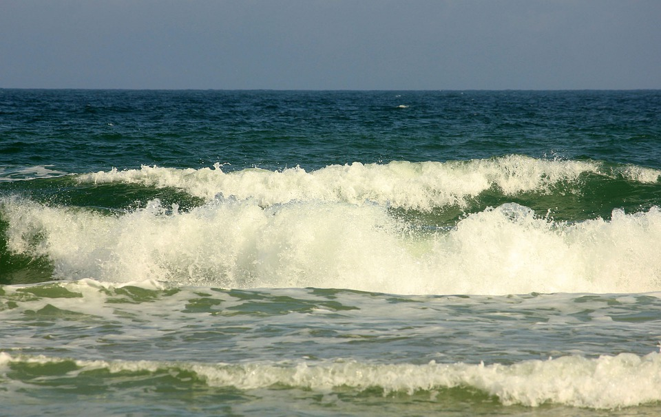 Daytona Beach Florida Usa Ocean Waves