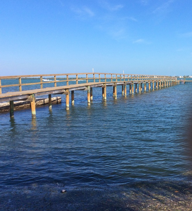 Wooden Bridge, River, Key, West, Florida