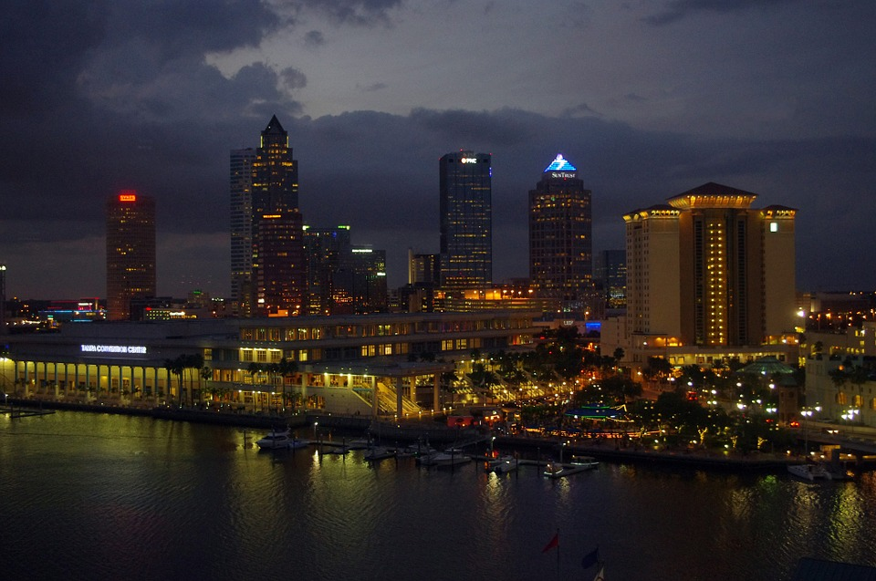 Florida, Tampa Bay, Night, Tampa, City, Skyline