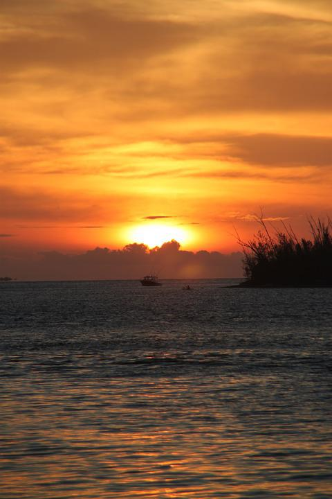 Sunset, Key West, Florida, Ocean, Water, Tropical