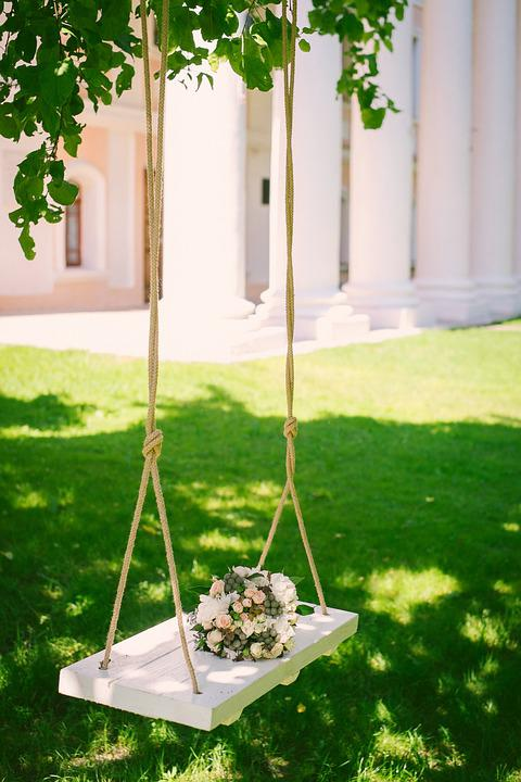 Wedding Bouquet On The Swing, Bridal Bouquet, Floristry