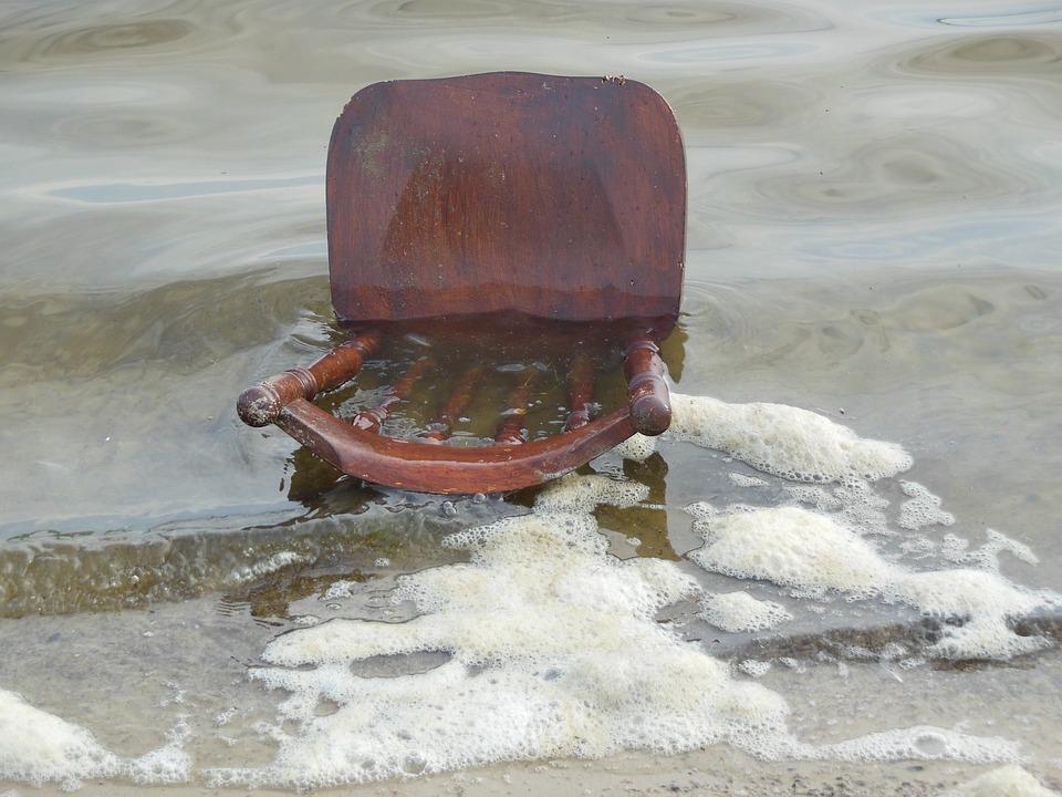 Flotsam, Pollution, North Sea, Chair, Garbage, Waste