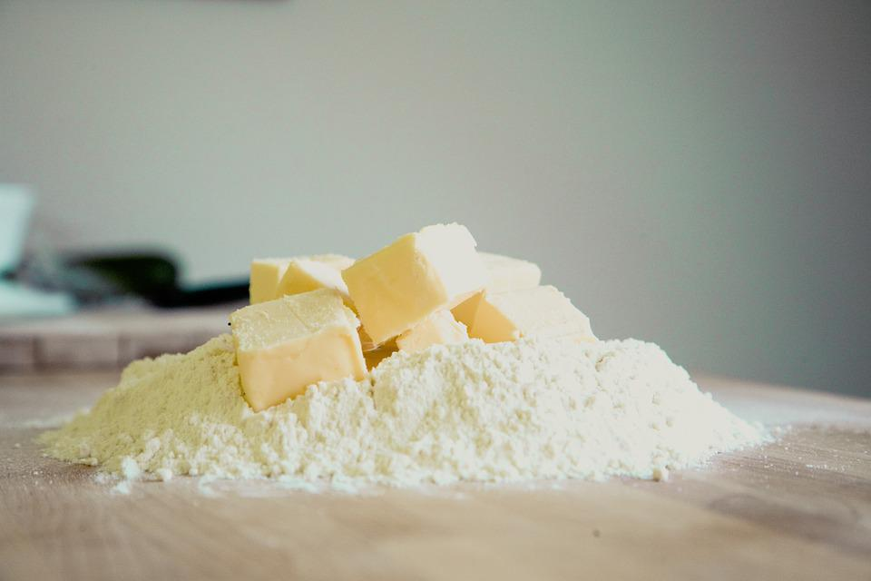 Bake, Butter, Flour, Mountain, Pile, Cookie, Egg