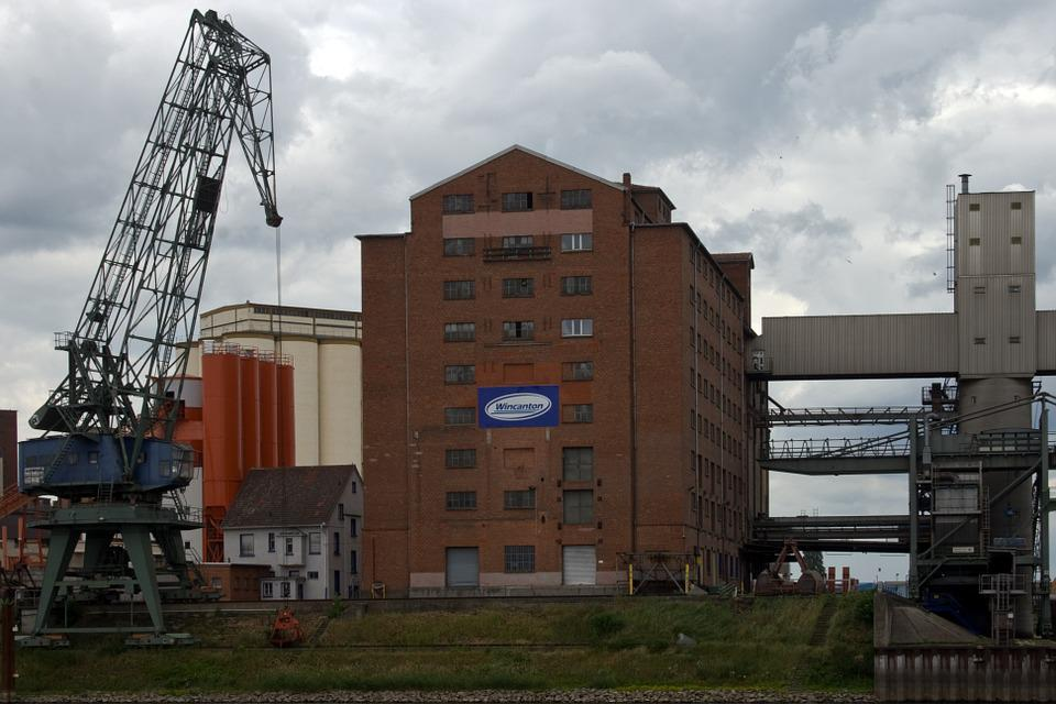 Industry, Crane, Flour Mill