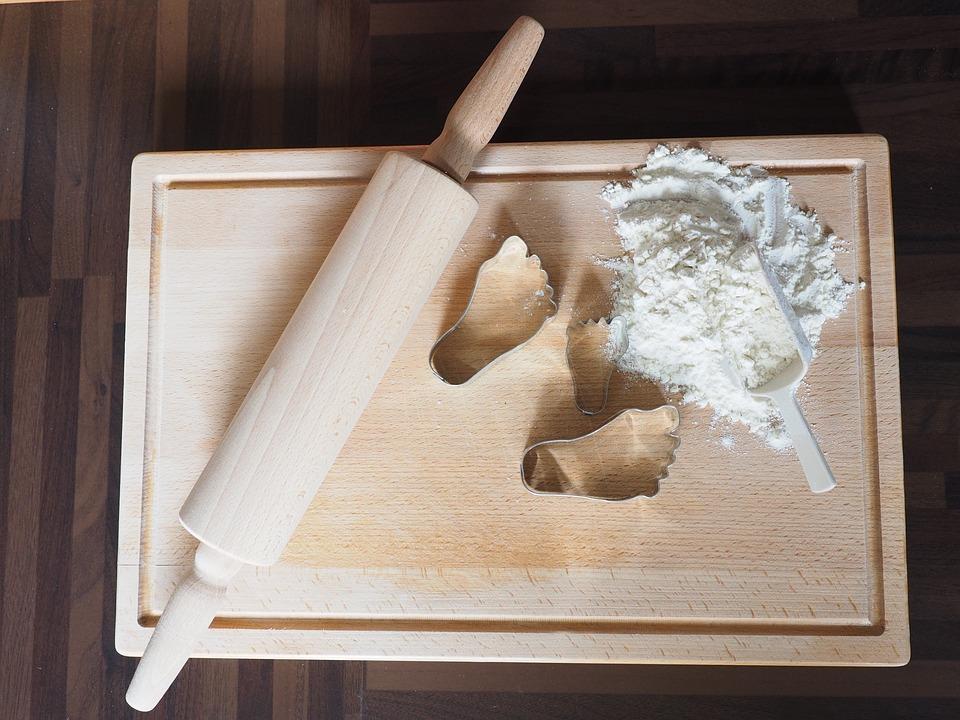 Bake, Flour, Wave Wood, Preparation, Rolling Pin