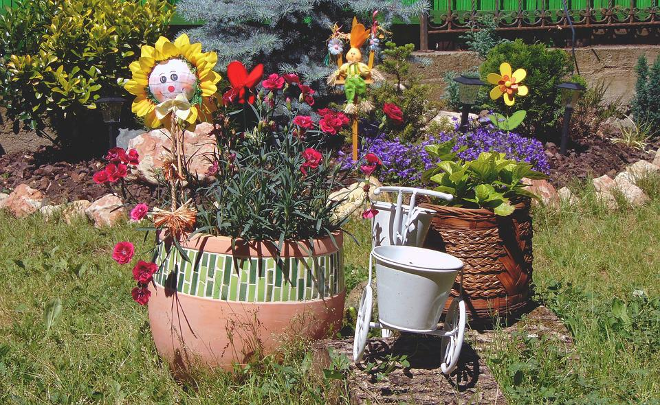 Flowers, Garden, Flower Arrangement, Yard, Summer