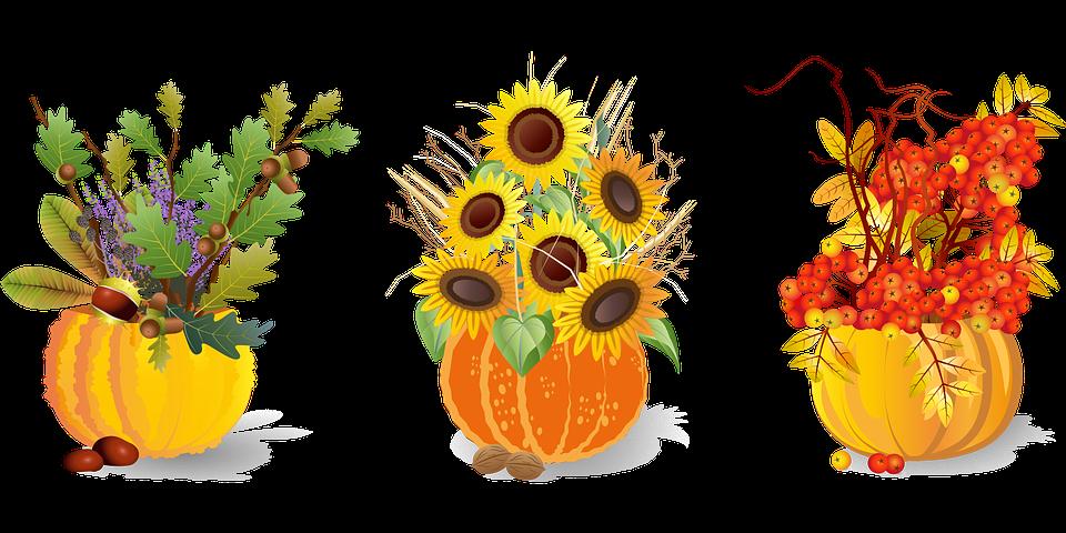 Autumn, Flower Arrangement, Pumpkins, Fall