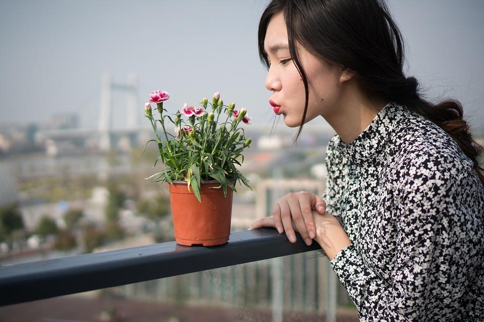 Portrait, Photography, Woman, Asia, Flower