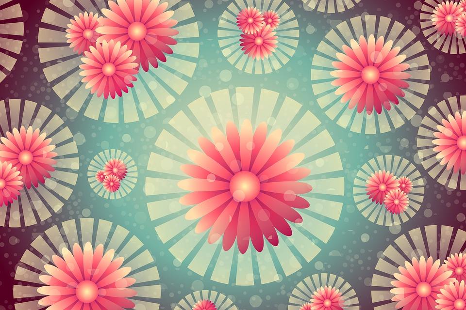Background, Floral, Flower, Texture