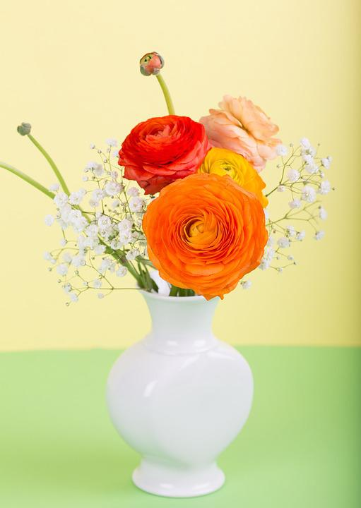 Free photo Flower Bouquet Flower Vase Spring Ranunculus - Max Pixel