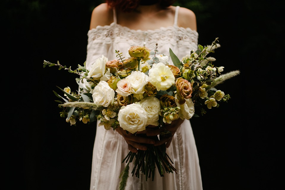 Bouquet, Flower, Bunch, Bundle, Wedding, People, Girl