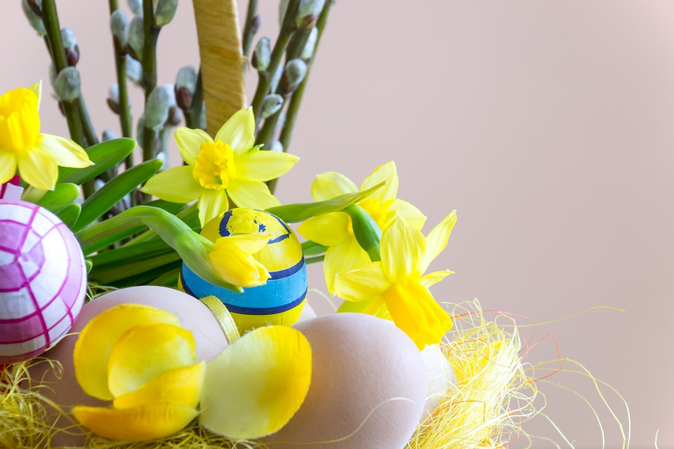 Easter, Flower, Composition, The Background, Decoration