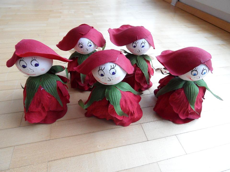 Tinker, Flower Elves, Children, Elves, Flower, Rose