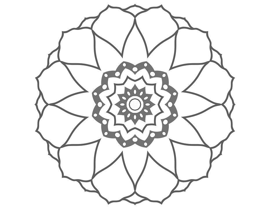 Coloring Page Flower Drawing Image