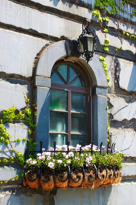 Landscape, Window, Flower Gardens, Travel, Tourism