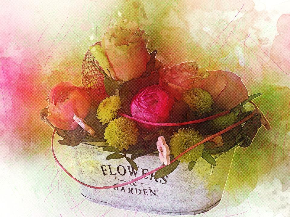 Floral, Roses, Flower, Love, Romance, Bloom, Blossom