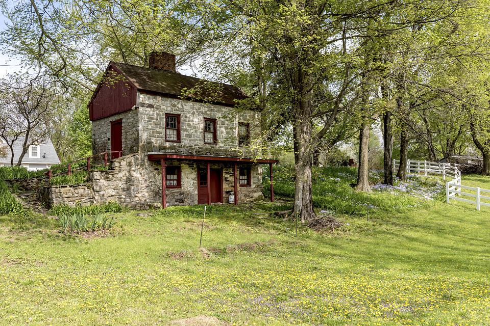 Home, Building, Architecture, Flower Meadow, Old House