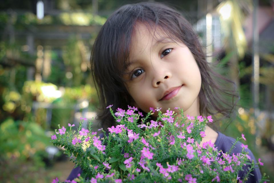 Flower, Nature, Outdoors, Summer, Child, Garden