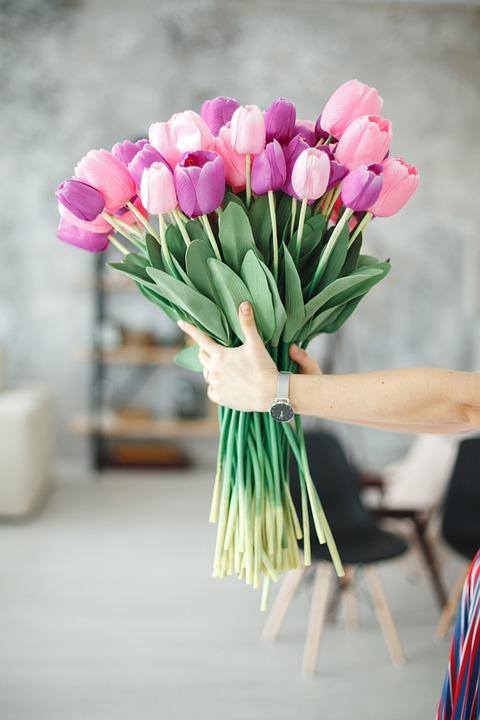 Flower, Nature, Tulips, Clock, Tulip, Plant, Bouquet