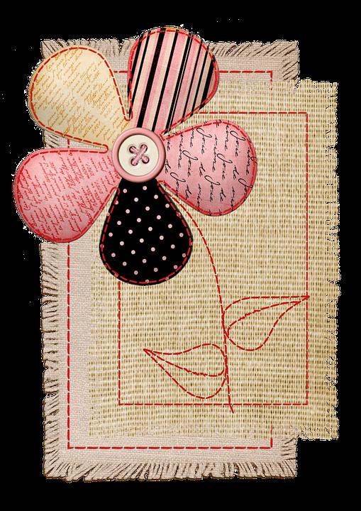 Flower, Needlework, Fabric, Stitch, Scrapbook, Applique
