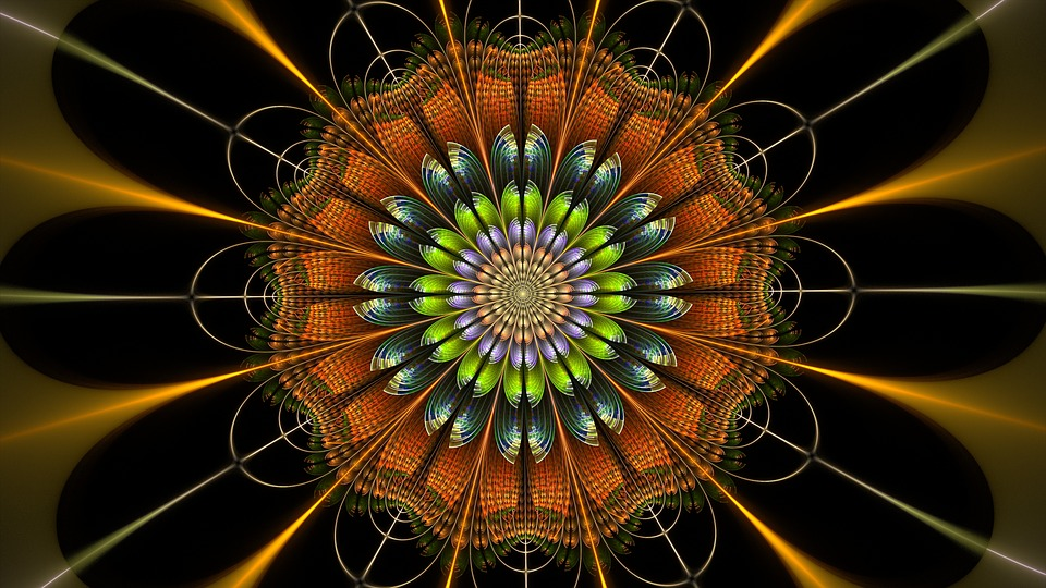 Fractal, Digital, Flower, Orange