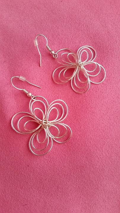 Earring, Flower, Jewellery, Pink
