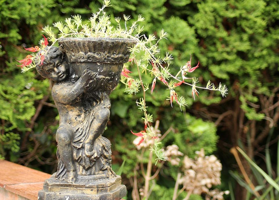 Garden, Flower Pot, Ornament, Decoration