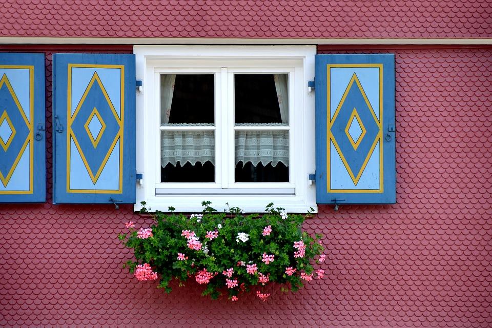 Shutter, Farmhouse, Flower, Window Flower, Window